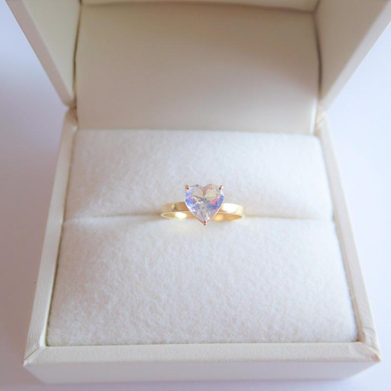 amulet ring(ハート/ムーンストーン)