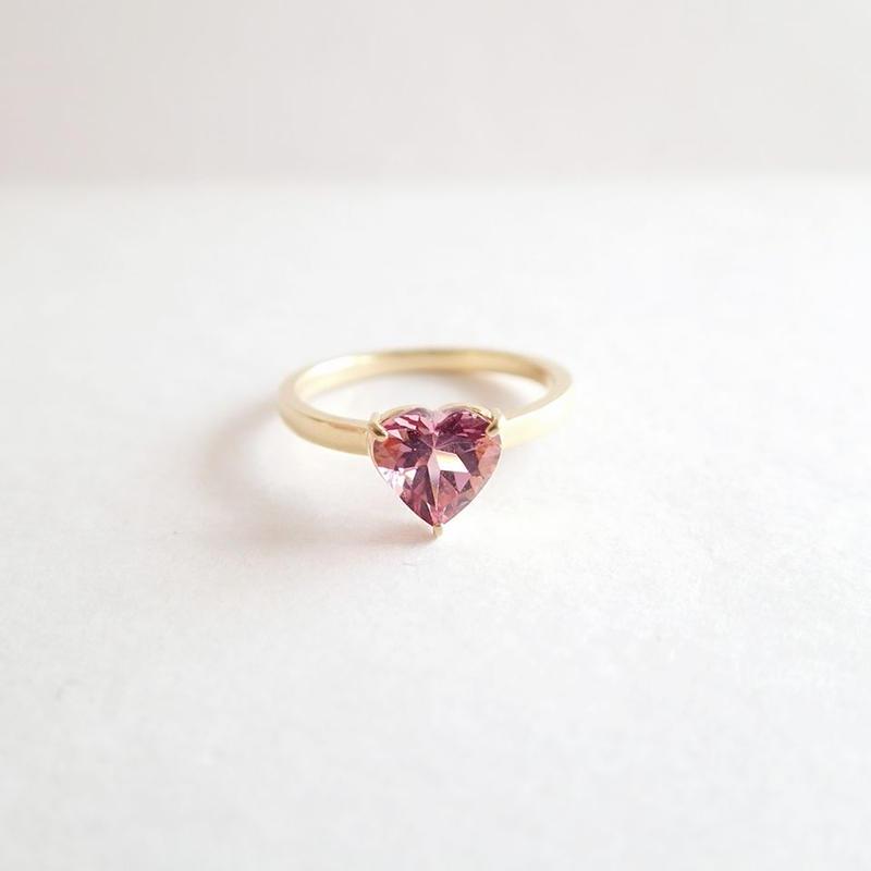 Heart Ring (ピンクトルマリン)