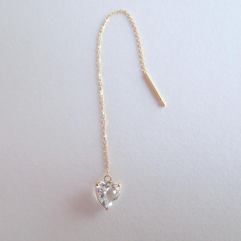 amulet earrings  (ホワイトトパーズ)