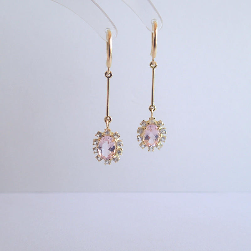 Sparkle earrings   (モルガナイト)