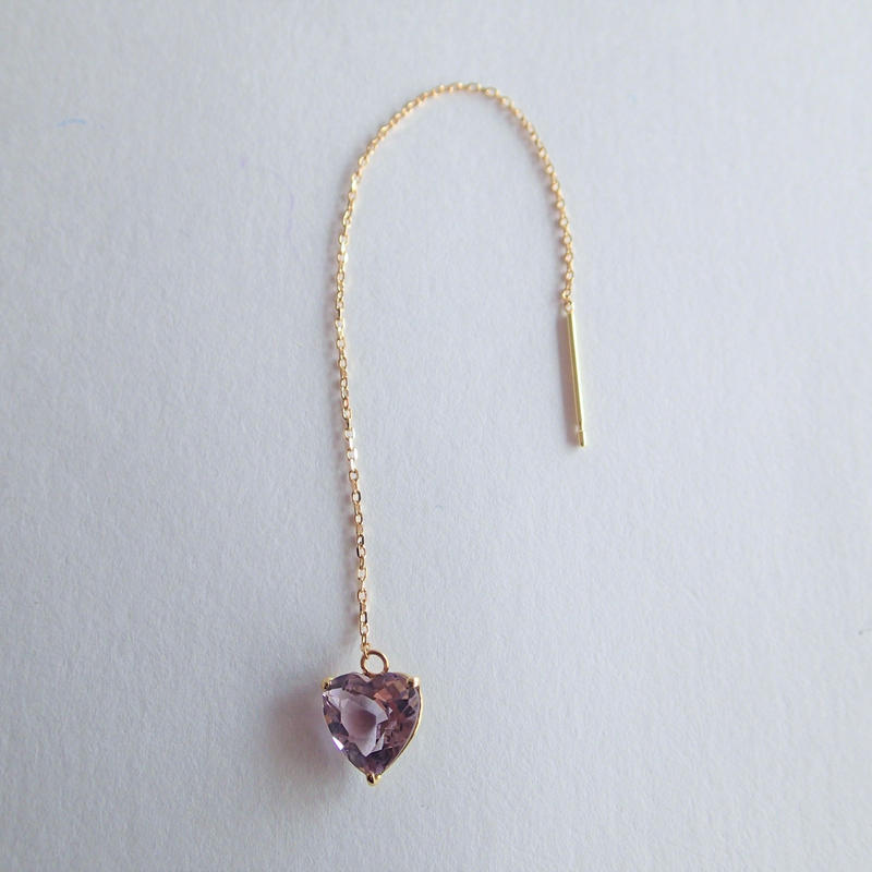 amulet earrings  (ローズアメジスト)