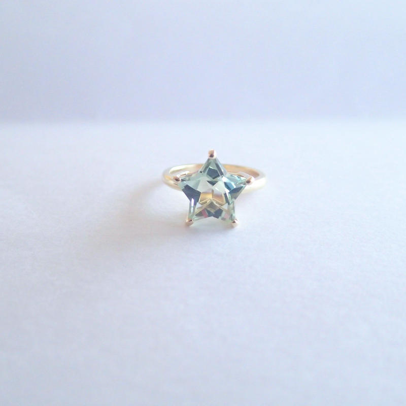 Etoile Ring M(ローズアメジスト/グリーンクォーツ)