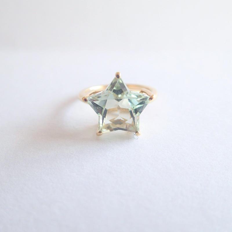 Etoile Ring L(グリーンクォーツ/ローズアメジスト)