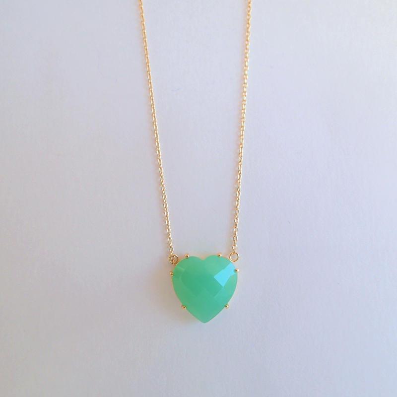 Heart Pendant(クリソプレーズ)