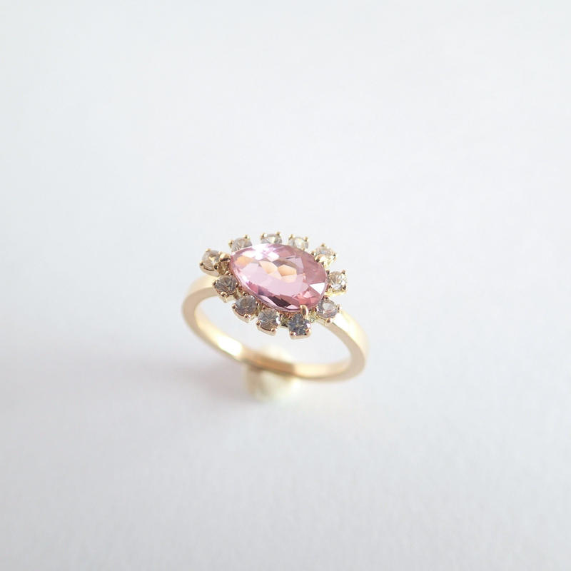 Sparkle ring(ピンクトルマリン)