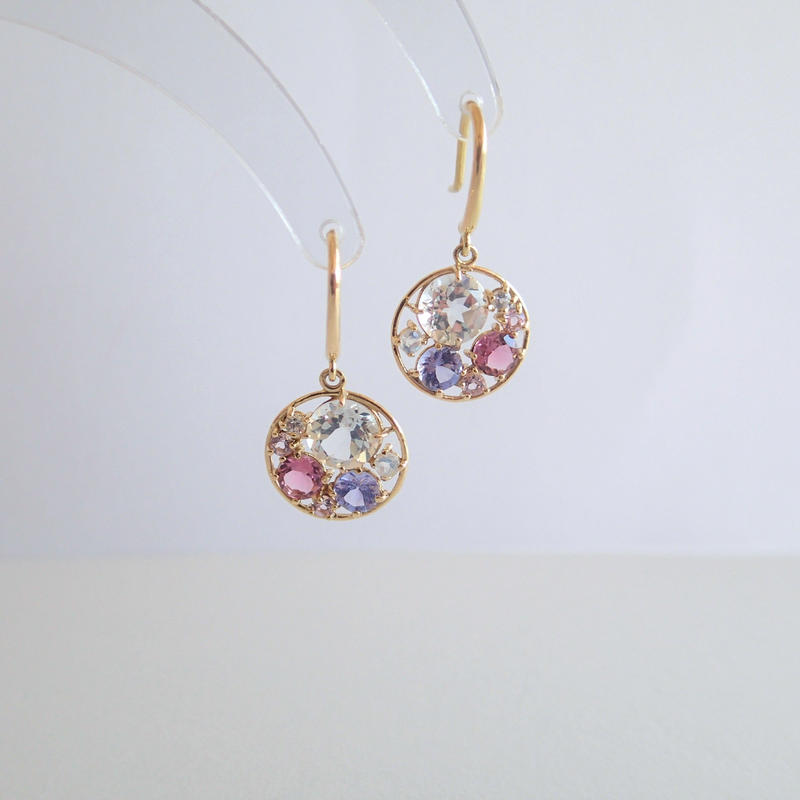 Water color earrings(Lilac)