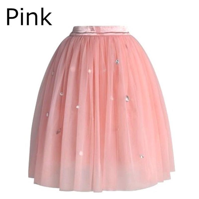Chicwish シックウィッシュ チュールスカート ピンク Pink Tulle Skirt 無地 装飾 ウエスト一部ゴム 海外ブランド