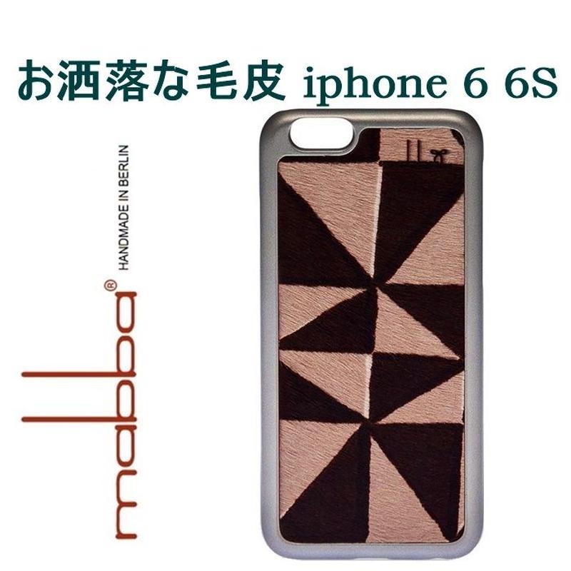 mabba マッバ ドイツ の お洒落な 毛皮 iphone6 ケース La Crazy Bonita iPhone 6 6s Case Fell アイフォン シックス エス カバー 本革 レザー