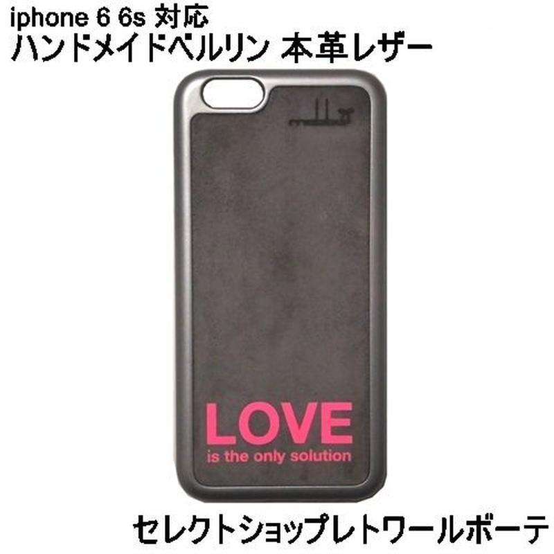 マッバ mabba 本革 レザー Love is the only Solution iPhone 6 6s Case Slogan おしゃれ レザーケース 海外 ブランド