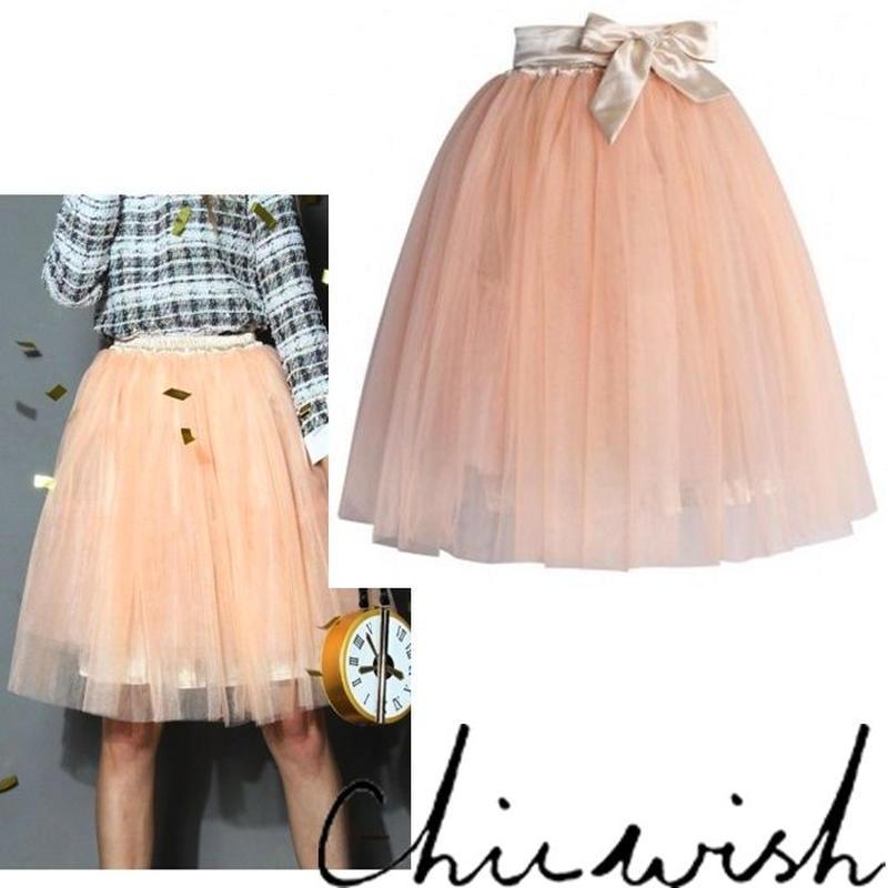 Chicwish シックウィッシュ 外せる リボン 付き チュールスカート Amore Tulle Midi Skirt in Ice Orange オレンジ フンワリ ボリューム セール
