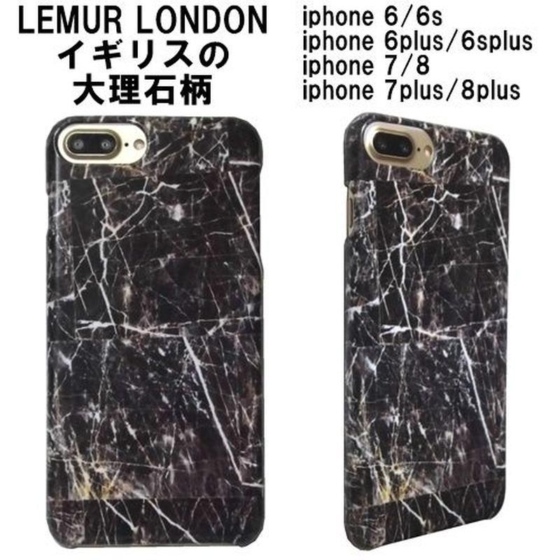 iphone8plus iphone7plus iphone8 ケース アイフォン8プラス 黒大理石柄 lemur 6plus 7 8 スマホケース