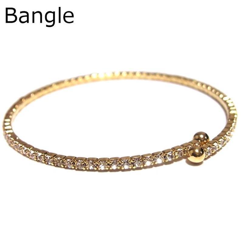 Sugar Bean Jewelry シュガービーンジュエリー アメリカ 華奢 軽い お洒落 バングル single crystal bangle ジルコニア イエロー ブレスレット 海外 ブランド