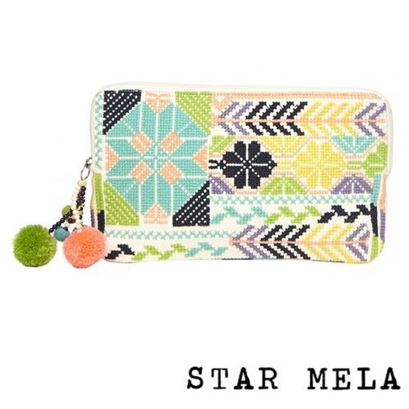 STAR MELA スターメラ 刺繍 ポーチ Selma Emb Purse ecru multi ロンドン 財布 布 小物入れ ブランド 海外
