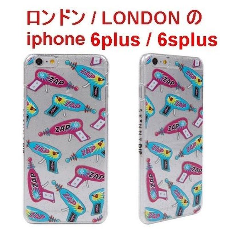 skinnydip レーザーガン柄でお洒落なIPHONE6plusケース iphone6SPLUSケース アイフォン6プラスケース フィルム付き