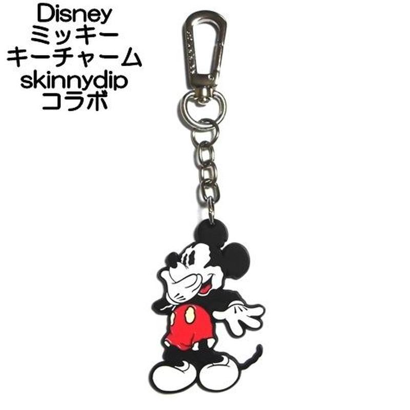 disney skinnydip コラボ ミッキーマウス キーチャーム laughing mickey key charm