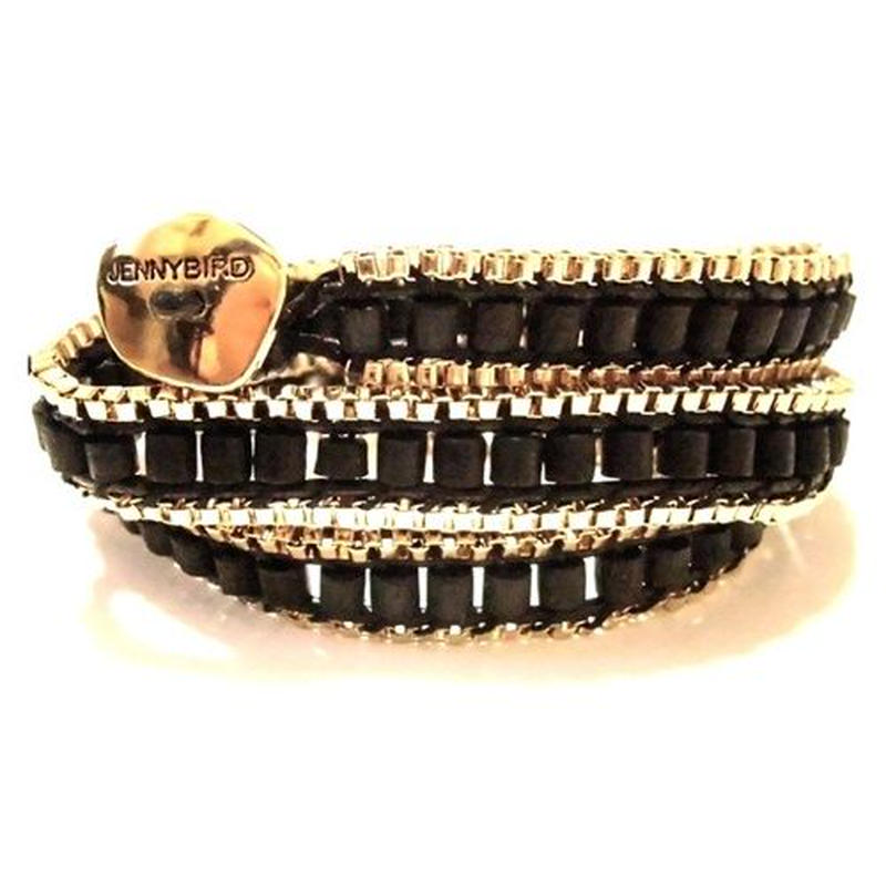 JENNY BIRD ジェニーバード カナダ の ラグジュアリー ラップブレスレット gypset triple bracelet black ジプセット ブラック 巻き付け 連 海外 ブランド