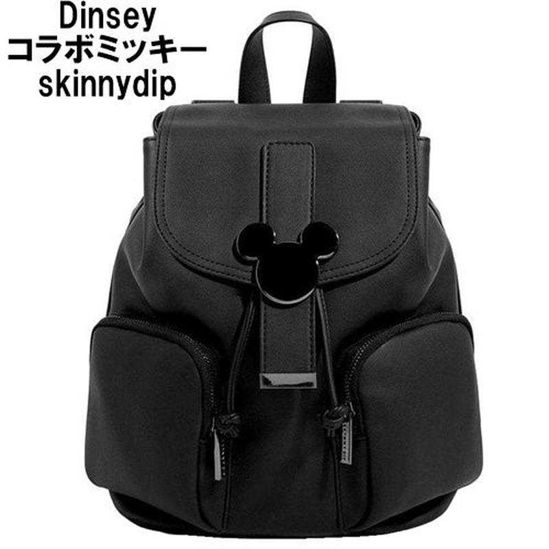 Disney ディズニー ミッキーマウス バックパック ブラック メンズ レディース skinnydip コラボ リュック おしゃれ