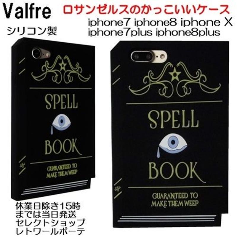 Valfre 魔法の本型でカッコイイiphoneケース iphone8/7 iphone8plus/7plus iphonex SPELL シリコン