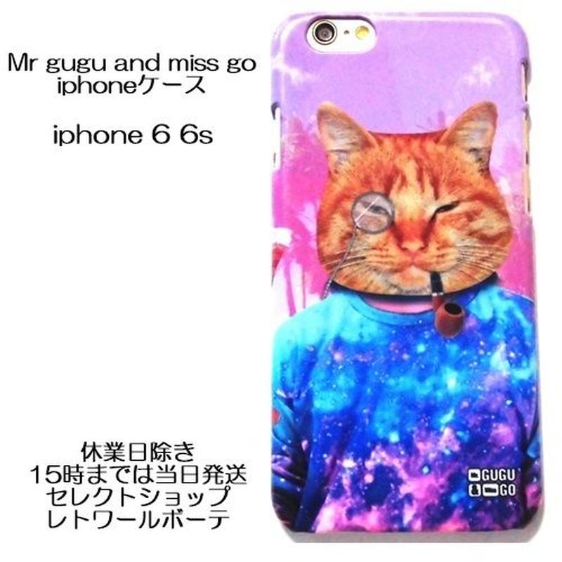 MrGUGU&MissGO ミスターググアンドミスゴー iphone6s iphone6 ケース 可愛いネコ柄のアイフォンケース