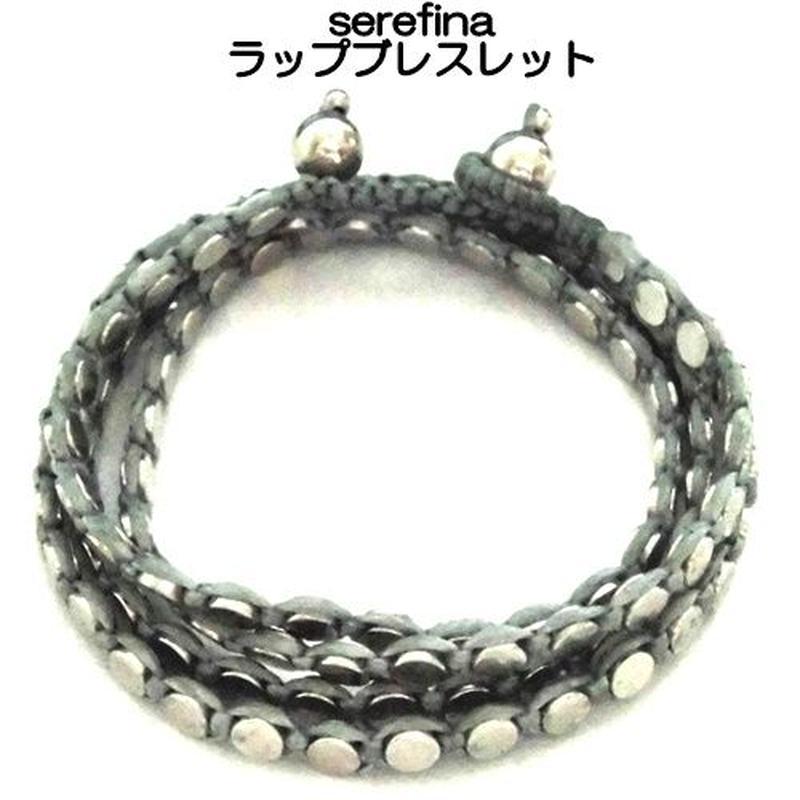 serefina 3連ラップブレスレット S Silver bracelet ディスク S シルバー デザイン ぐるぐる巻き メンズ レディース