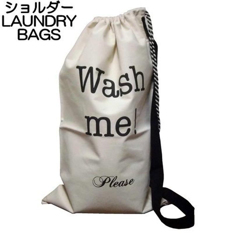 bag all ランドリーバッグ ショルダー 大きい キャンバス 大容量 おしゃれ 折りたたみ 持ち運び NEW YORKER WASH ME