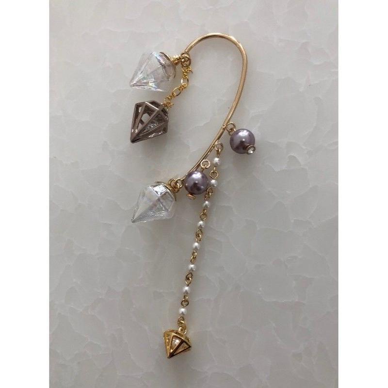 オーロラダイヤガラスのイヤーフック