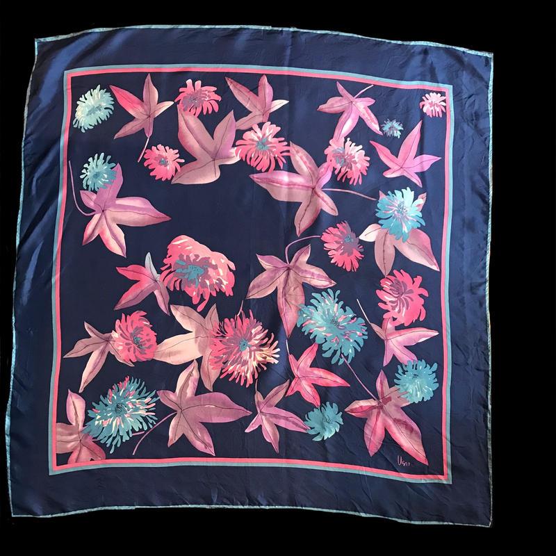 【Used】Leaf patten scarf  / 葉柄スカーフ