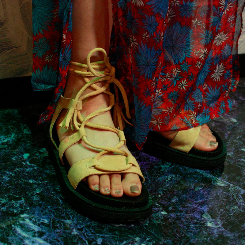 【Selected item】Lace up Sandals <beige>