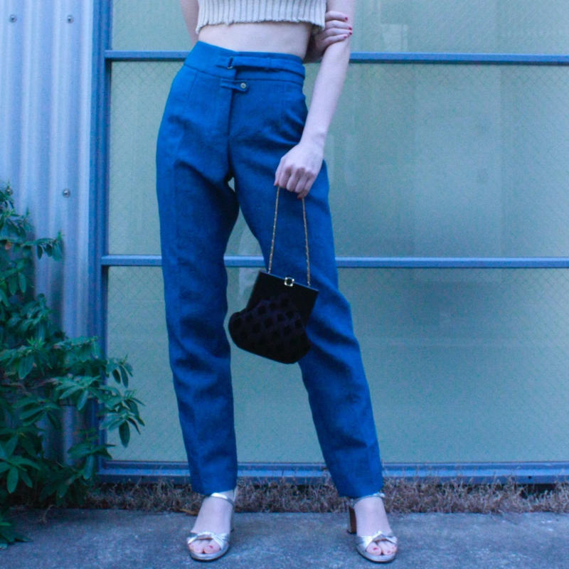 【vintage】YvesSaintLaurent Slacks  design pants  / イヴ・サンローランスラックス
