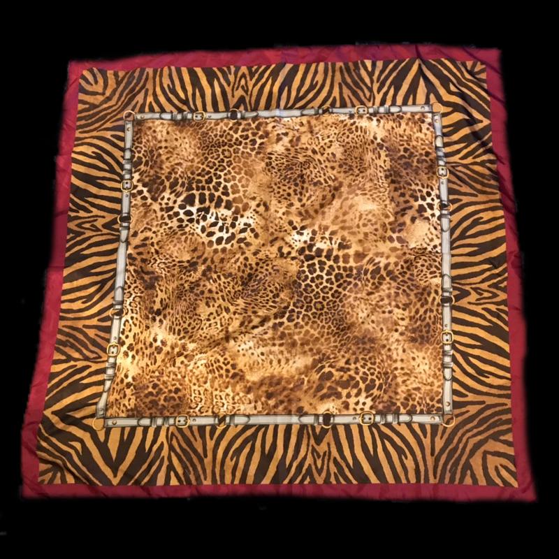 【Used】Animal pattern scarf / アニマル柄スカーフ