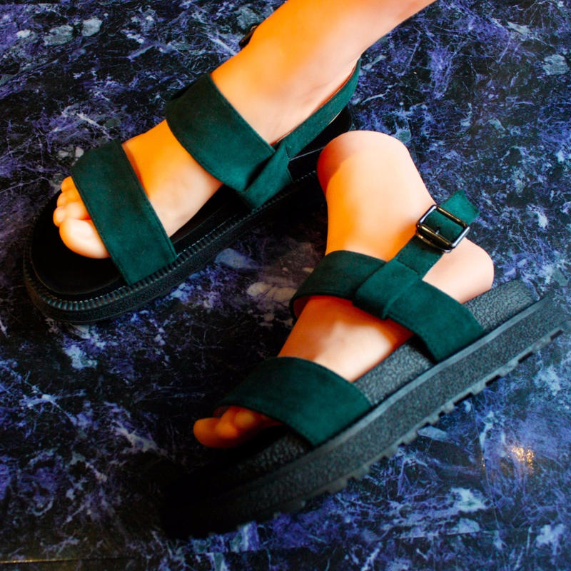 【Selected item】Strap Sandal / green