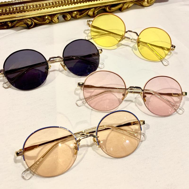 【Selected Item】color round sunglasses / カラーラウンドサングラス / mg-200