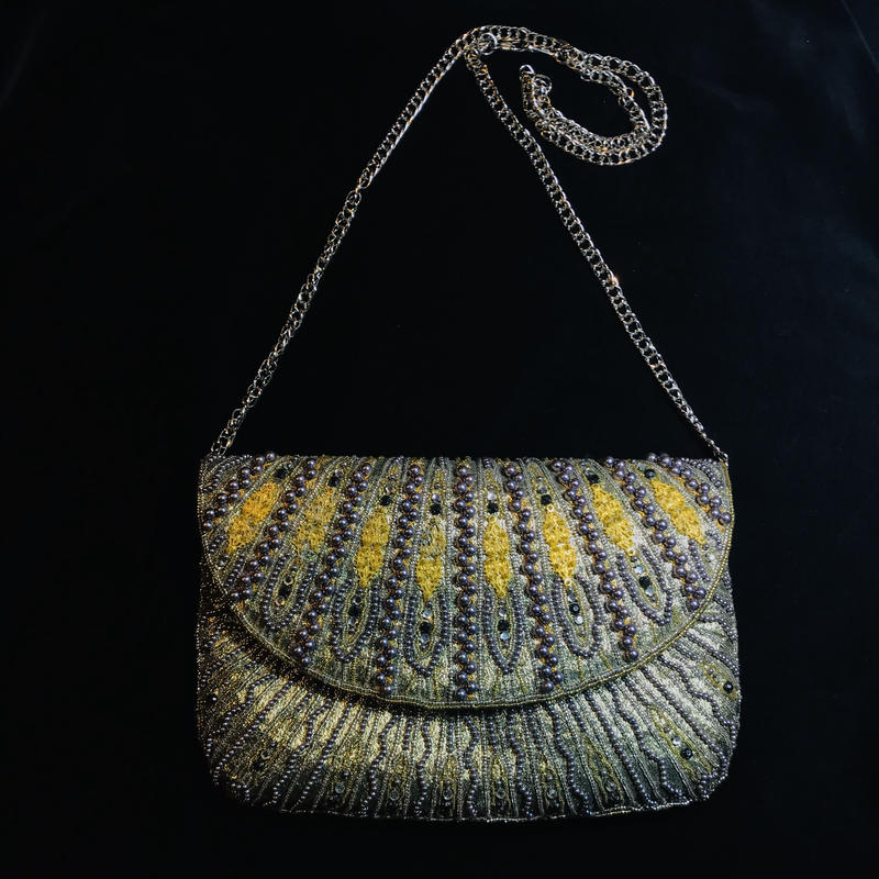 【Used】Gold beads shoulder bag / ゴールドビーズショルダーバッグ