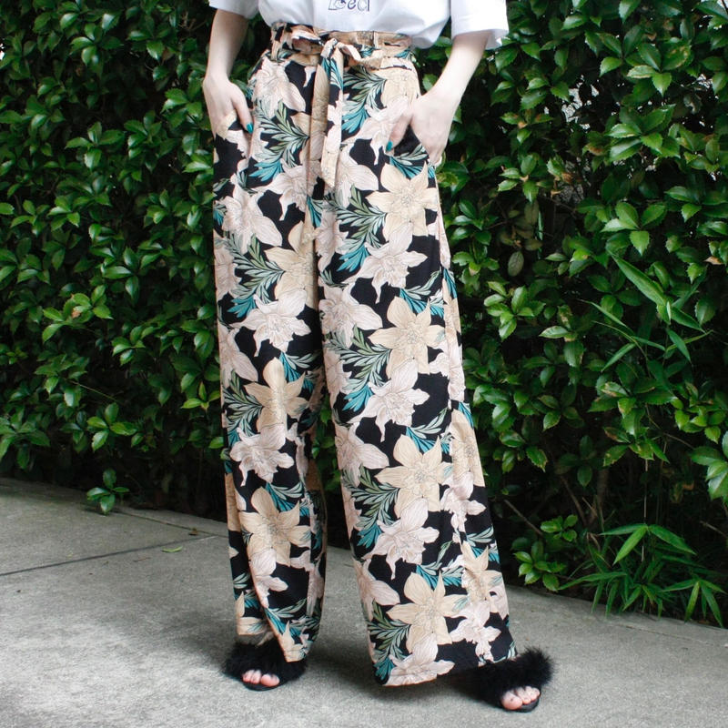 【migration】Flower design resort pants / 花柄リゾートパンツ / mg-315