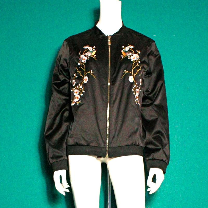 【migration】Enbroidery nylon Jacket / 刺繍ジャケット