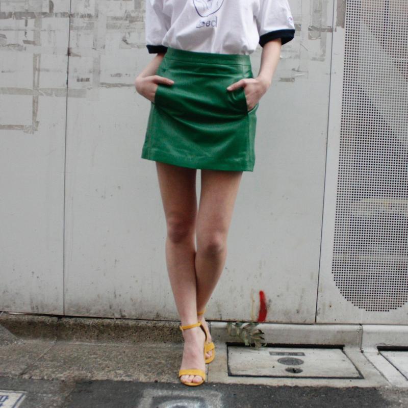 【migration】Sheep skin leather skirt / mg-165 / 羊革ミニスカート