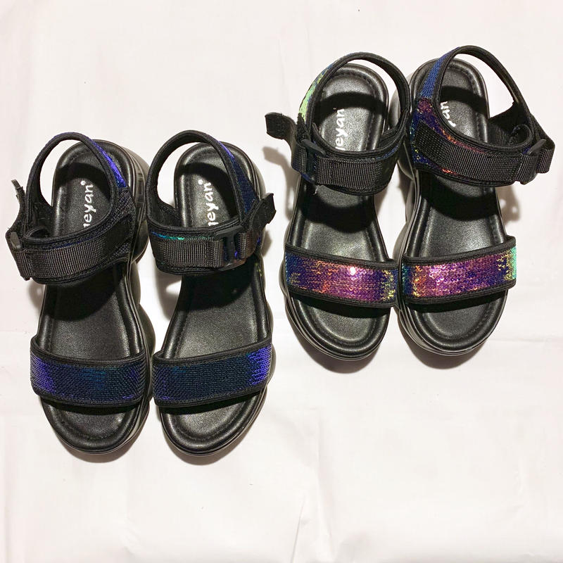 【Selected Item】aurora spangles tape sandal / スパンコールテープサンダル
