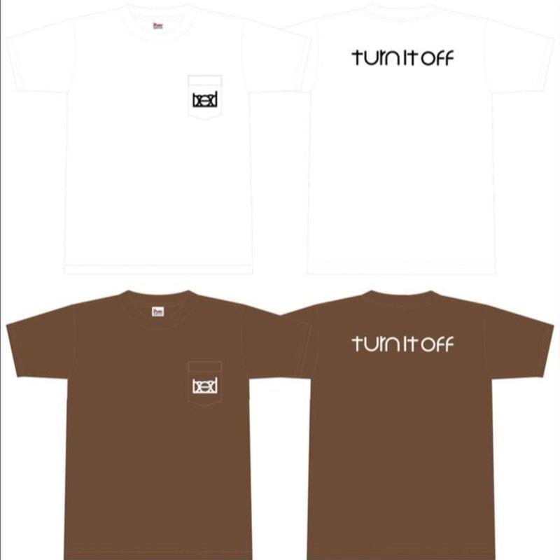 """turn it off"" Pocket T-Shirt 2017(White×Black)"