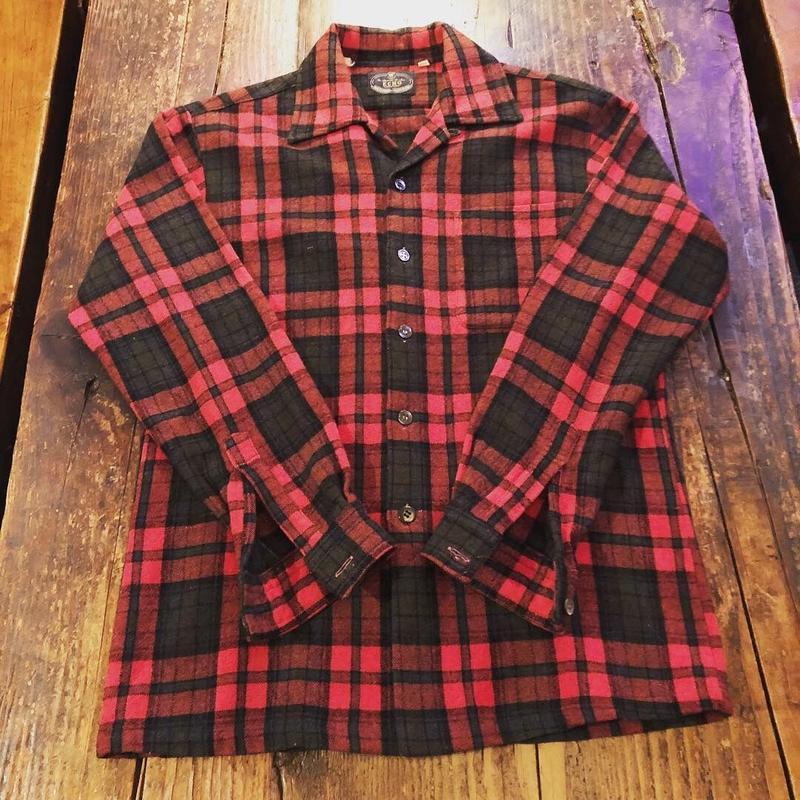 100%ウール オープンカラーシャツ