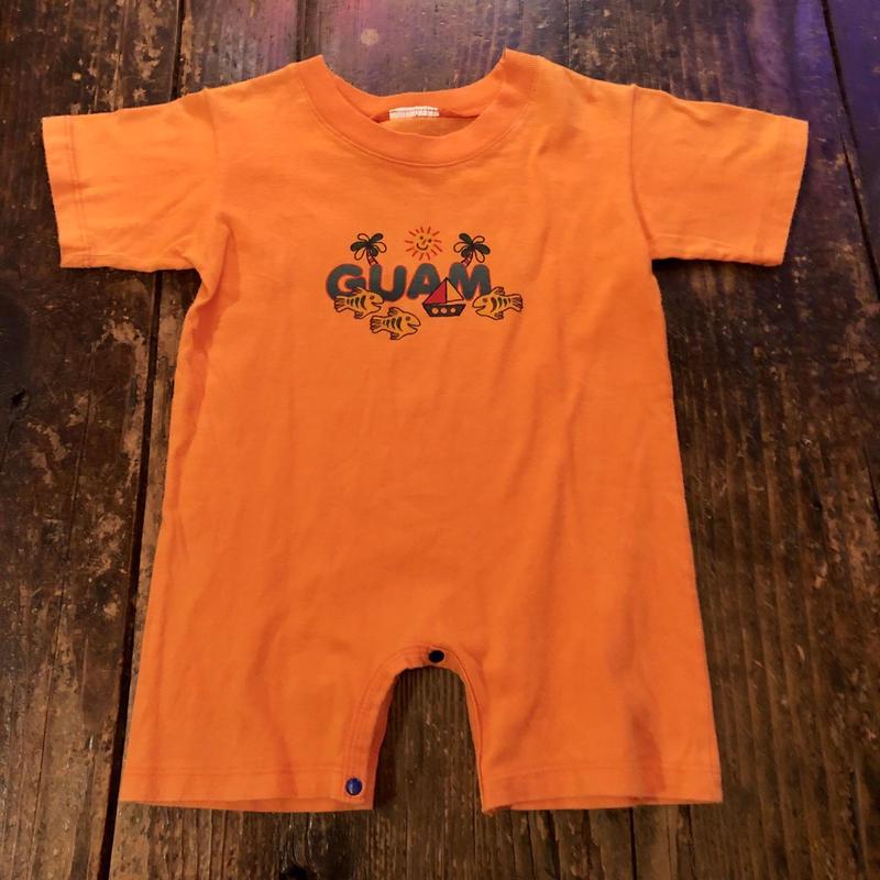 GUAM Tシャツ生地 ショートロンパース