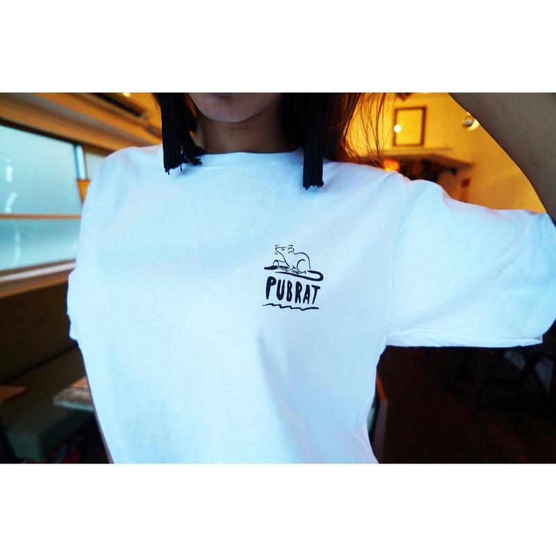 PUBRAT 手刷りロゴTシャツ