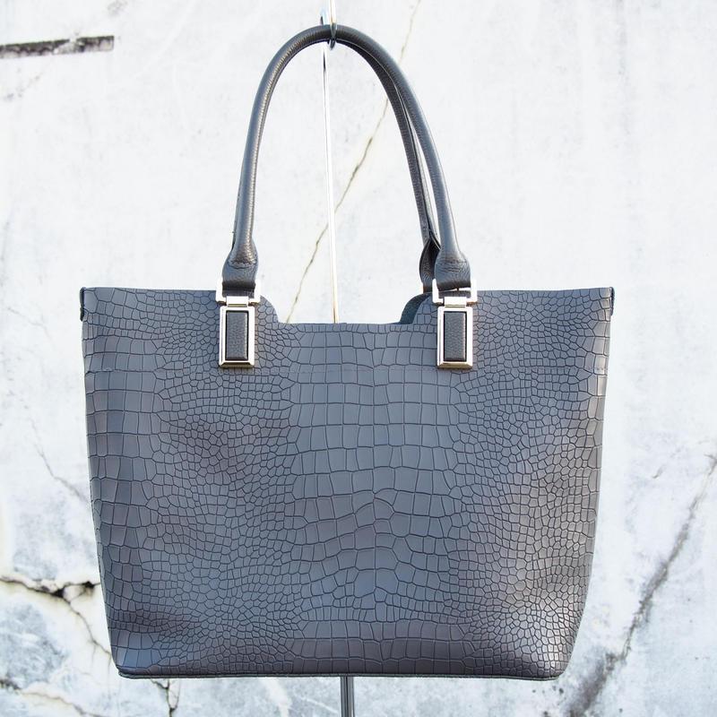 Croco Elegance Tote/GRY