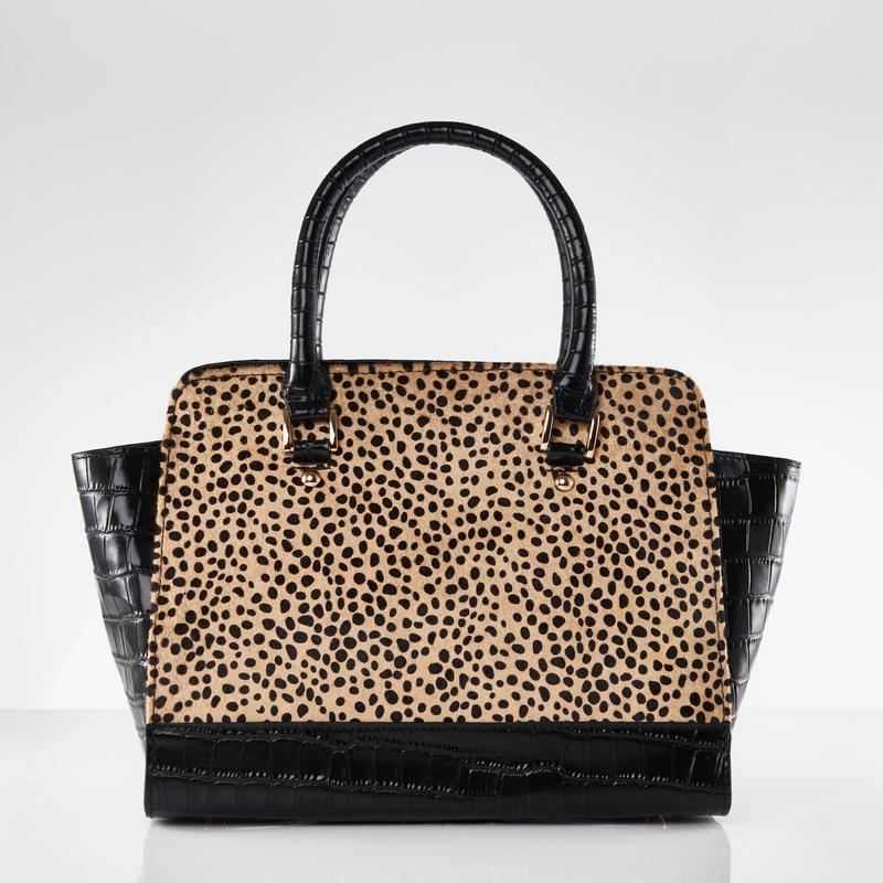 Croco Handbag / Bengal Cat Color