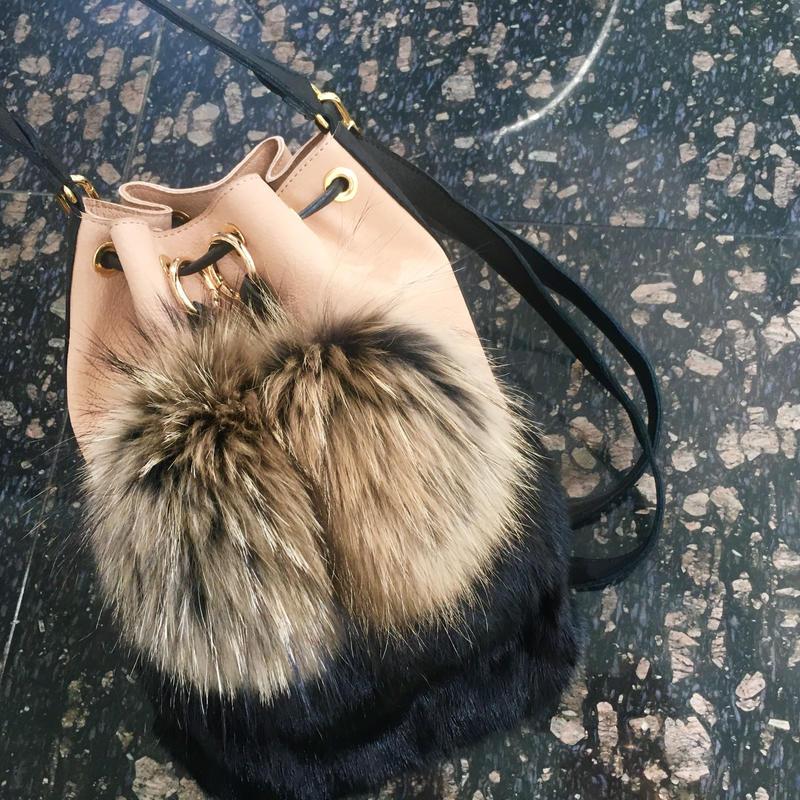 Mink fur bag / ミンクファー巾着型バッグ 送料無料商品