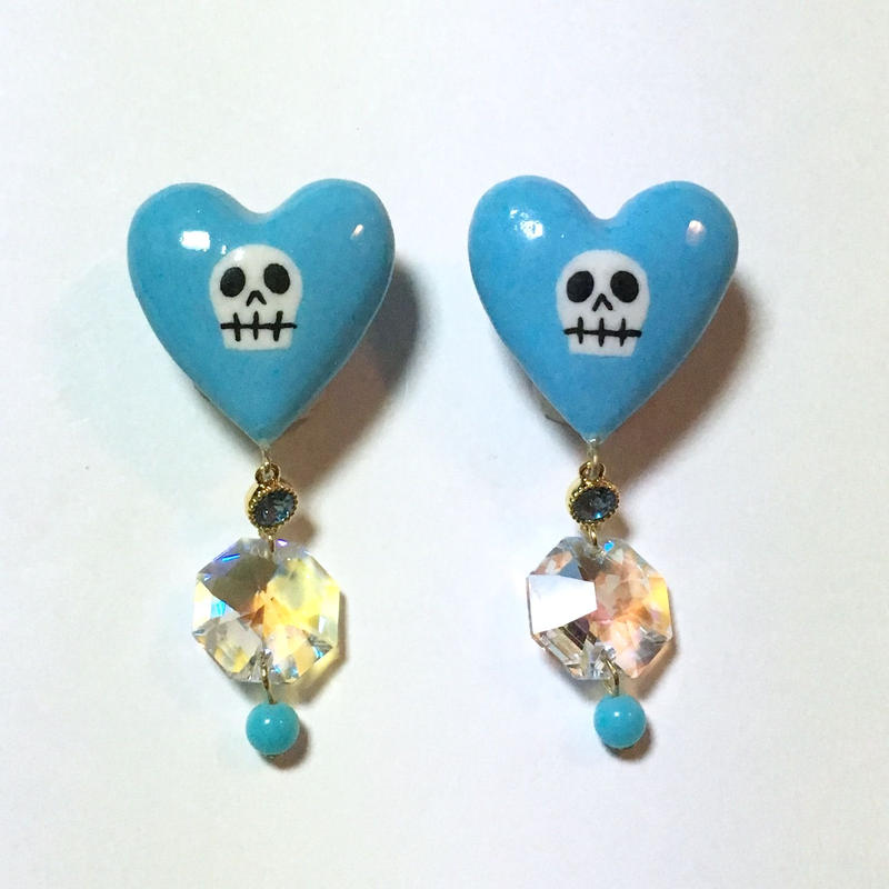 BLUE HEART イヤリング