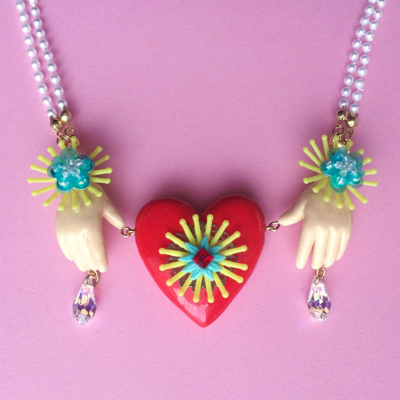 HEART&HANDS PEARL  ネックレス