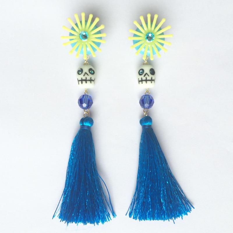 YELLOW & BLUE ピアス