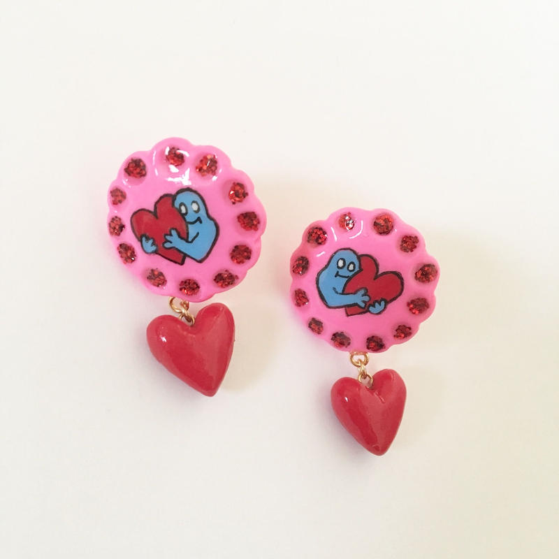 DESTINY HEART ピアス (丸)