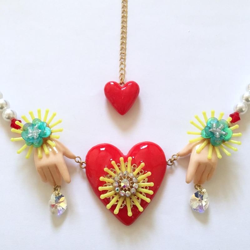 HAND & HEART PEARL ネックレス
