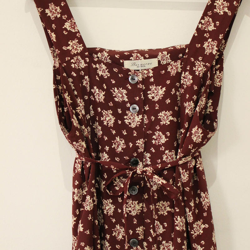 flower pattern long one-piece
